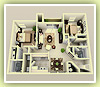 2bd small 960sq ft - 3D Plan Schema