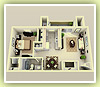 1bd 740sq ft - 3D Plan Schema