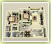 2bd large 1121sq ft - 3D Plan Schema