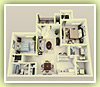 2 Bedrooms / 2 Baths - 3D Plan Schema